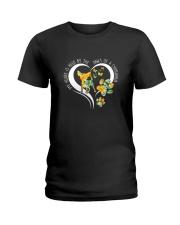 Chihuahua paw heart 1108 Ladies T-Shirt thumbnail