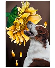 Irish Red and White Setter Sunflower 11x17 Poster front