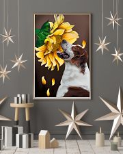 Irish Red and White Setter Sunflower 11x17 Poster lifestyle-holiday-poster-1