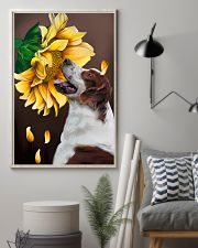 Irish Red and White Setter Sunflower 11x17 Poster lifestyle-poster-1