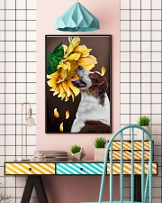 Irish Red and White Setter Sunflower 11x17 Poster lifestyle-poster-6