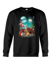 Golden Retriever to Santa Crewneck Sweatshirt front