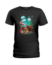 Golden Retriever to Santa Ladies T-Shirt thumbnail