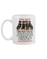 Rottweiler smile Mug back