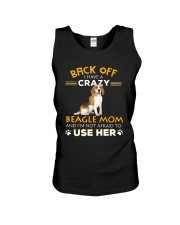 Crazy Beagle Mom Unisex Tank thumbnail