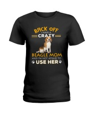 Crazy Beagle Mom Ladies T-Shirt thumbnail