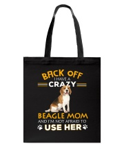 Crazy Beagle Mom Tote Bag thumbnail