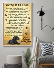 Giant Schnauzer Waiting at The Door 11x17 Poster lifestyle-poster-1