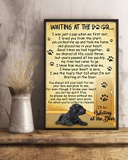 Giant Schnauzer Waiting at The Door 11x17 Poster lifestyle-poster-3