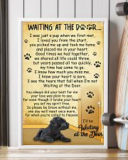 Giant Schnauzer Waiting at The Door 11x17 Poster lifestyle-poster-4