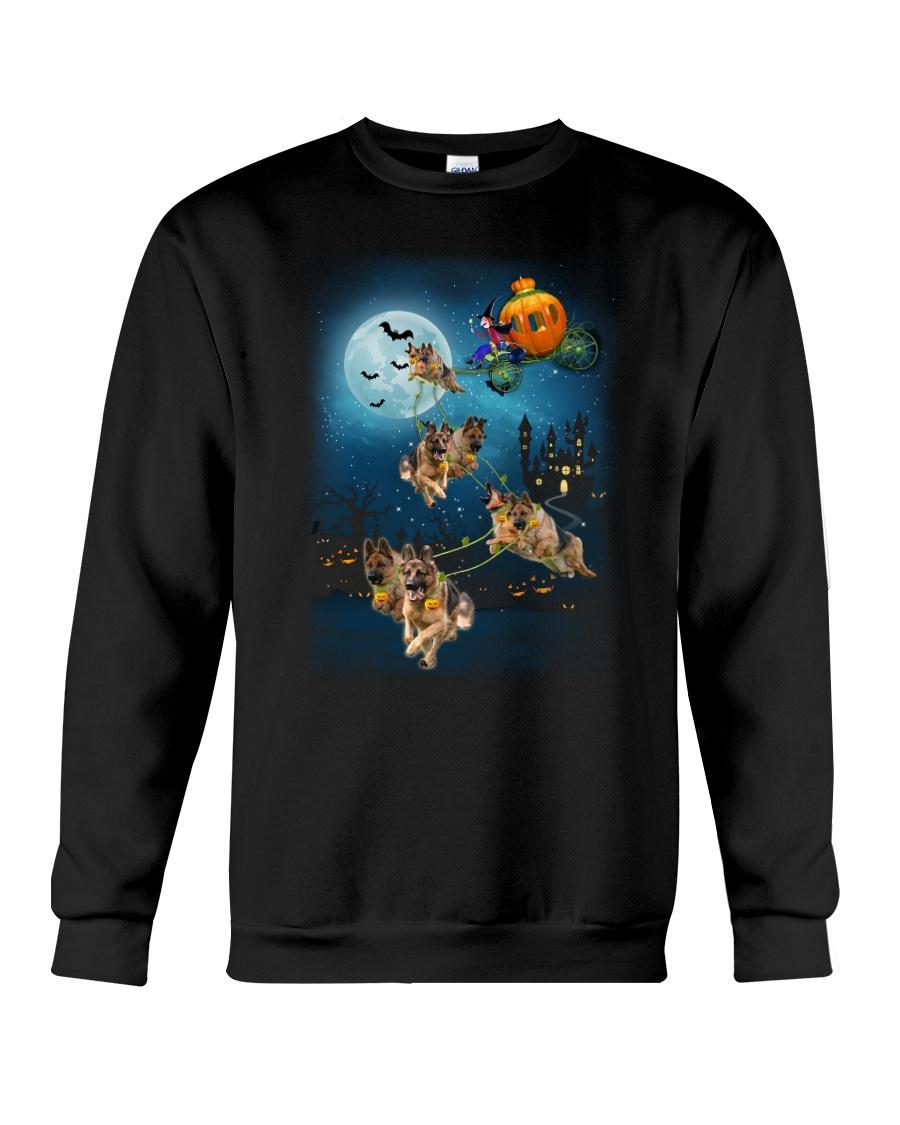 German Shep Pumpkin Carriages Crewneck Sweatshirt