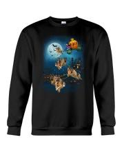 German Shep Pumpkin Carriages Crewneck Sweatshirt front
