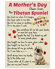 Tibetan-Spaniel Mother Day Poem Poster 2801 11x17 Poster front