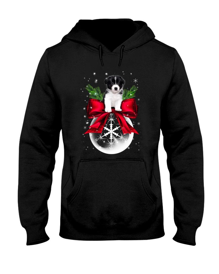 Border Collie Noel Hooded Sweatshirt