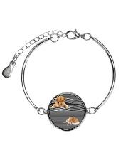 Golden Retriever Striped  2612 Metallic Circle Bracelet thumbnail