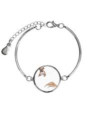 Staffordshire Bull Terrier Striped  Metallic Circle Bracelet thumbnail