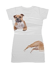 Staffordshire Bull Terrier Striped  All-over Dress thumbnail