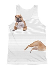 Staffordshire Bull Terrier Striped  All-over Unisex Tank front