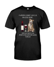 American Staffordshire Terrier and Wine Classic T-Shirt tile