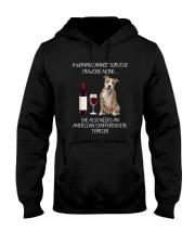 American Staffordshire Terrier and Wine Hooded Sweatshirt thumbnail