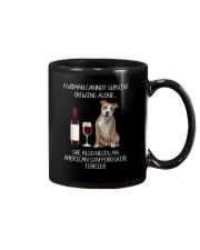 American Staffordshire Terrier and Wine Mug thumbnail
