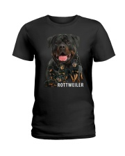 Rottweiler family Ladies T-Shirt thumbnail