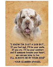 Clumber Spaniel I Know Im Just A Dog Poster 1401  11x17 Poster front