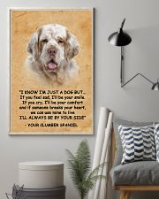 Clumber Spaniel I Know Im Just A Dog Poster 1401  11x17 Poster lifestyle-poster-1
