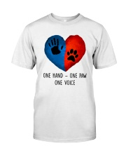 Dog One hand one paw 2807 Classic T-Shirt front