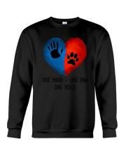 Dog One hand one paw 2807 Crewneck Sweatshirt thumbnail