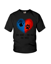 Dog One hand one paw 2807 Youth T-Shirt thumbnail