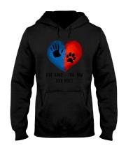 Dog One hand one paw 2807 Hooded Sweatshirt thumbnail