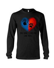 Dog One hand one paw 2807 Long Sleeve Tee thumbnail