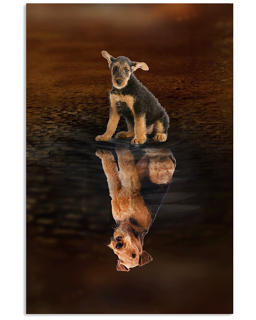 Airedale Terrier Believe 11x17 Poster