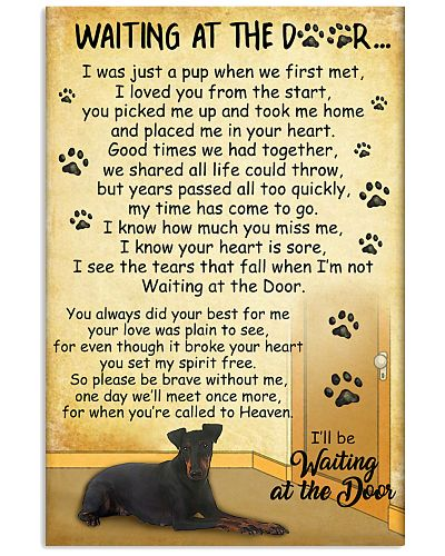 Manchester Terrier Waiting At The Door 2601