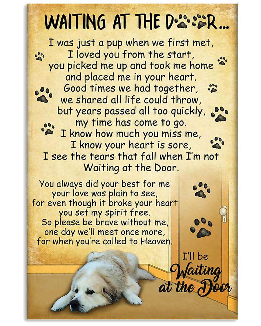 Great Pyrenees Waiting At The Door Poster 2301 11x17 Poster