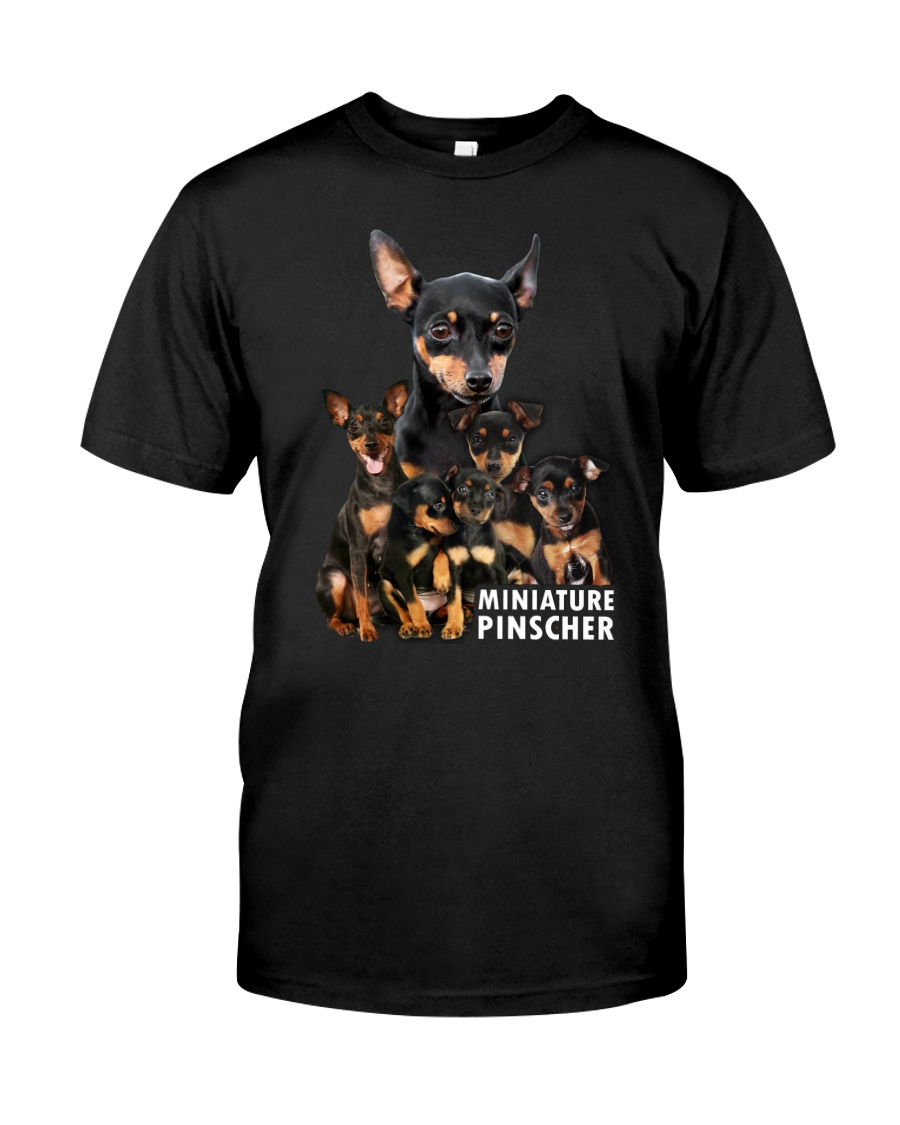Miniature Pinscher Awesome Family 0701 Classic T-Shirt