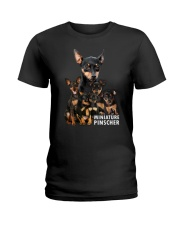 Miniature Pinscher Awesome Family 0701 Ladies T-Shirt thumbnail
