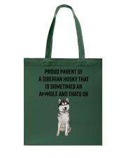 Siberian Husky Proud Parent Mug 1701 Tote Bag thumbnail