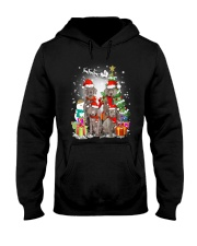 Weimaraner Family Xmas 0310 Hooded Sweatshirt tile
