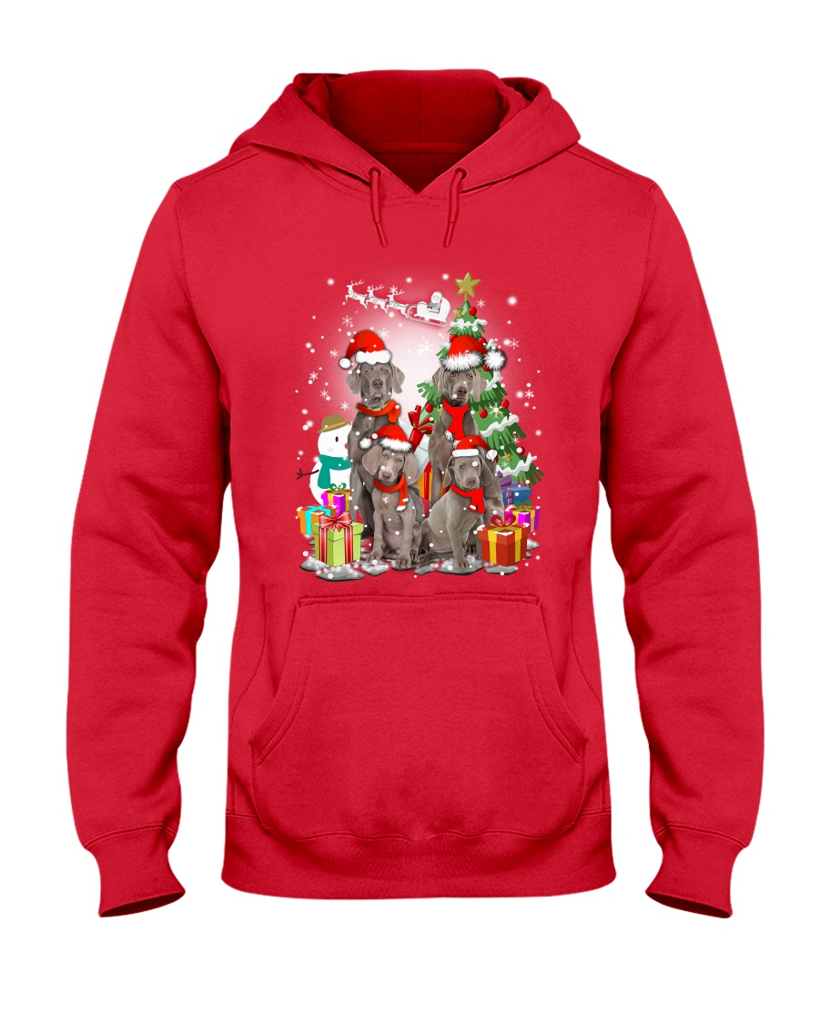 Weimaraner Family Xmas 0310 Hooded Sweatshirt