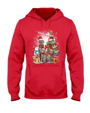 Weimaraner Family Xmas 0310 Hooded Sweatshirt front