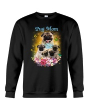 Pug mom Crewneck Sweatshirt thumbnail