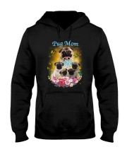 Pug mom Hooded Sweatshirt thumbnail