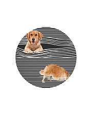Golden Retriever Striped 02 Circle Cutting Board thumbnail