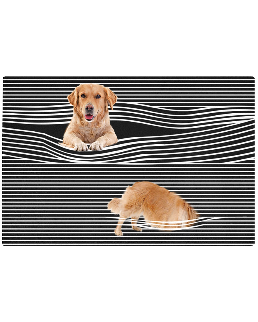 Golden Retriever Striped 02 Rectangle Cutting Board