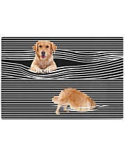 Golden Retriever Striped 02 Rectangle Cutting Board front