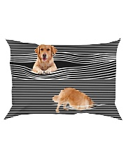 Golden Retriever Striped 02 Rectangular Pillowcase thumbnail