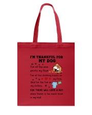 Dog thankful 2711 Tote Bag thumbnail