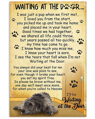 Irish Wolfhound Waiting at the Door